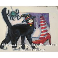 Halloween Witchs Cat Spider and Red Shoes ePacket - Theresa Prokop - PDF DOWNLOAD