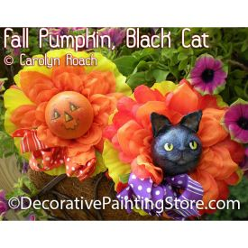 Fall Pumpkin Black Cat ePattern - Carolyn Roach - PDF DOWNLOAD