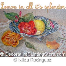 Lemon in All Its Spendor Colored Pencil ePattern - Nilda Rodriguez - PDF Download