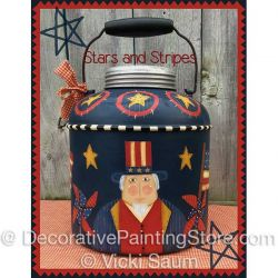 Stars and Stripes ePattern - Vicki Saum - PDF DOWNLOAD
