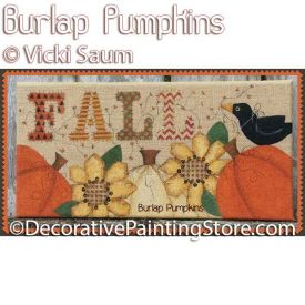 Burlap Pumpkins ePattern - Vicki Saum - PDF DOWNLOAD
