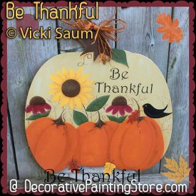 Be Thankful ePattern - Vicki Saum - PDF DOWNLOAD