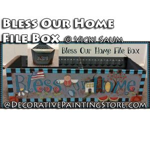Bless Our Home File Box ePattern - Vicki Saum - PDF DOWNLOAD