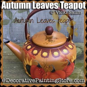 Autumn Leaves Teapot ePattern - Vicki Saum - PDF DOWNLOAD