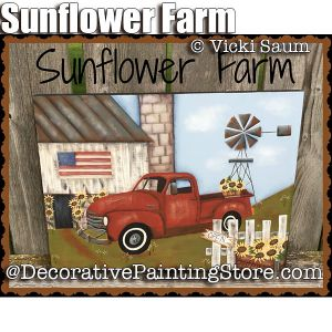 Sunflower Farm ePattern - Vicki Saum - PDF DOWNLOAD