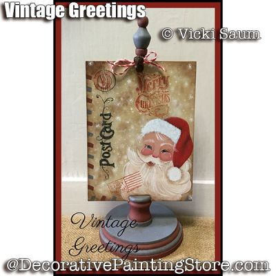 Vintage Greetings e-Pattern - Vicki Saum - PDF DOWNLOAD