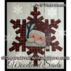 Woodland Santa e-Pattern - Vicki Saum - PDF DOWNLOAD