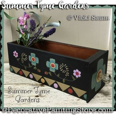 Summer Tyme Gardens e-Pattern - Vicki Saum - PDF DOWNLOAD