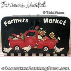 Farmers Market (Red Truck) Painting Pattern PDF DOWNLOAD - Vicki Saum
