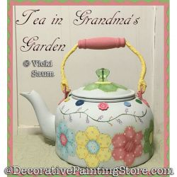 Tea in Grandmas Garden Painting Pattern PDF DOWNLOAD - Vicki Saum