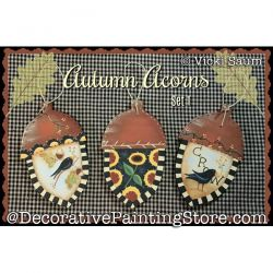 Autumn Acorns Set 1 Painting Pattern PDF DOWNLOAD - Vicki Saum