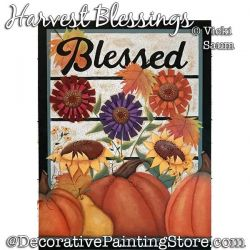 Harvest Blessings Painting Pattern PDF DOWNLOAD - Vicki Saum