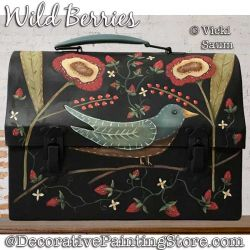 Wild Berries Painting Pattern PDF DOWNLOAD - Vicki Saum