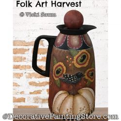 Folk Art Harvest Painting Pattern PDF DOWNLOAD - Vicki Saum