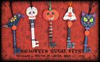 Halloween Sugar Key Ornaments Pattern - Sharon Bond - PDF DOWNLOAD