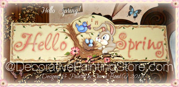 Hello Spring Pattern by Sharon Bond - PDF DOWNLOAD