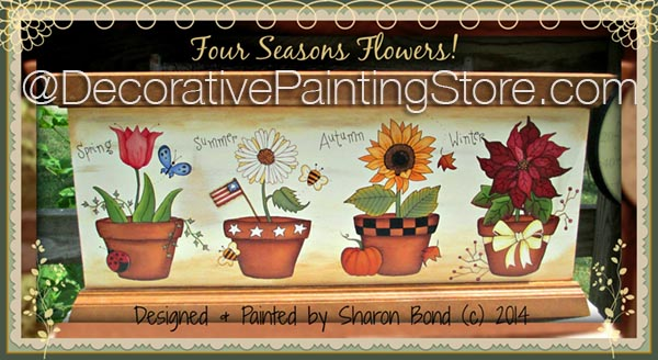 Four Season Flowers ePattern by Sharon Bond - PDF DOWNLOAD