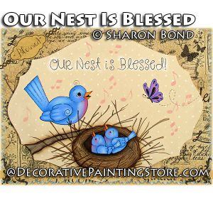 Our Nest Is Blessed ePattern by Sharon Bond - PDF DOWNLOAD