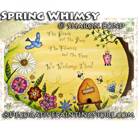 Spring Whimsy ePattern by Sharon Bond - PDF DOWNLOAD