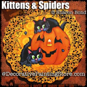 Kittens and Spiders ePattern - Sharon Bond - PDF DOWNLOAD