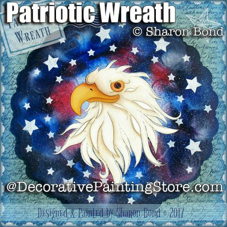 Patriotic Wreath ePattern - Sharon Bond - PDF DOWNLOAD
