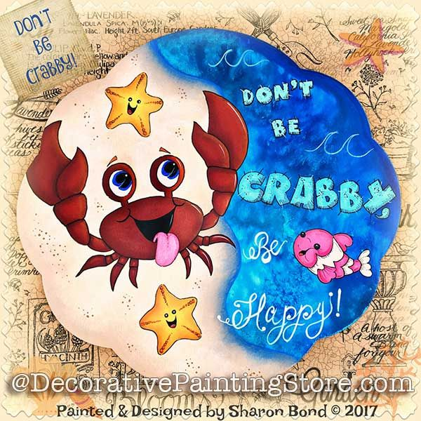 Dont Be Crabby ePattern - Sharon Bond - PDF DOWNLOAD