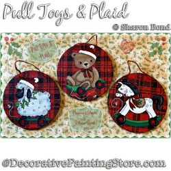 Pull Toys and Plaid Painting Pattern DOWNLOAD  - Sharon Bond
