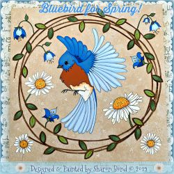Bluebird for Spring DOWNLOAD  - Sharon Bond