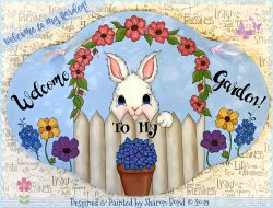 Welcome to My Garden (Bunny Rabbit) DOWNLOAD  - Sharon Bond