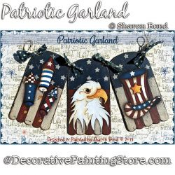 Patriotic Garland DOWNLOAD  - Sharon Bond
