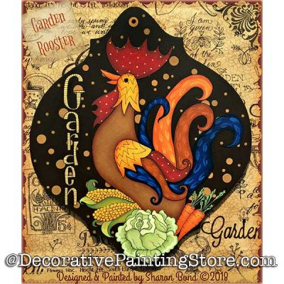 Garden Rooster DOWNLOAD  - Sharon Bond