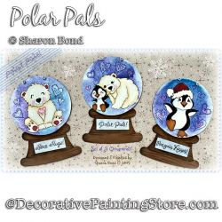 Polar Pal Ornaments DOWNLOAD  - Sharon Bond