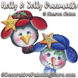 Holly and Jolly Ornaments Pattern - Sharon Chinn