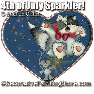 4th of July Sparkler SweetHeart BY MAIL - Sharon Chinn