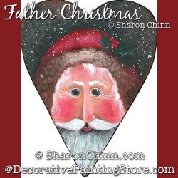 Father Christmas Prim Heart By Mail - Sharon Chinn