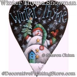 Winter Thyme Snowman by Mail - Sharon Chinn
