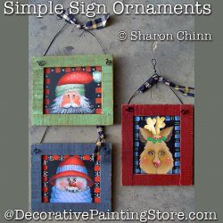 Simple Sign Ornaments Painting Pattern by Mail - Sharon Chinn