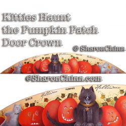Kitties Haunt the Pumpkin Patch Door Crown DOWNLOAD