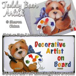 Teddy Artist License Plate & Shirt DOWNLOAD
