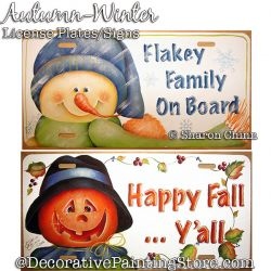 Fall & Winter License Plate Painting Pattern By Mail - Sharon Chinn