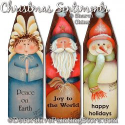 Christmas Sentiments Mini Ironing Board Ornaments ePacket