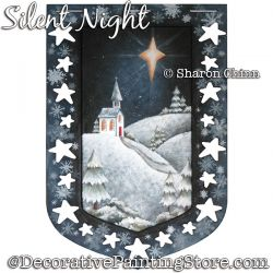 Silent Night Banner Painting Pattern BY MAIL - Sharon Chinn