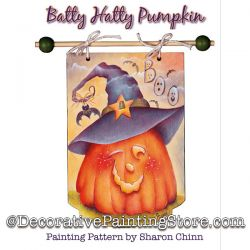 Batty Hatty/Happy Fall Pumpkin Banner By Mail - Sharon Chinn