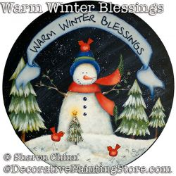 Warm Winter Blessings Snowman PDF DOWNLOAD - Sharon Chinn