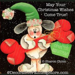 Dont Open Until Christmas Painting Pattern BY MAIL - Sharon Chinn