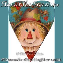 Stewart the Scarecrow Prim Heart BY MAIL - Sharon Chinn