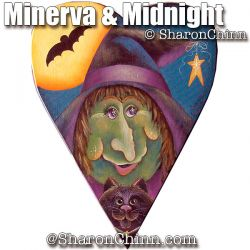 Minerva & Midnight Primitive Heart BY MAIL - Sharon Chinn
