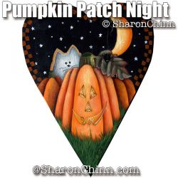 Pumpkin Patch Night Primitive Heart BY MAIL - Sharon Chinn