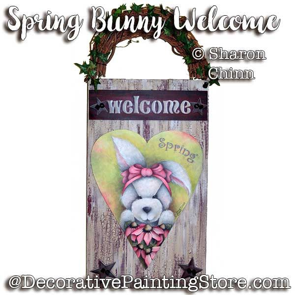 Spring Bunny Welcome Pattern By Mail - Sharon Chinn