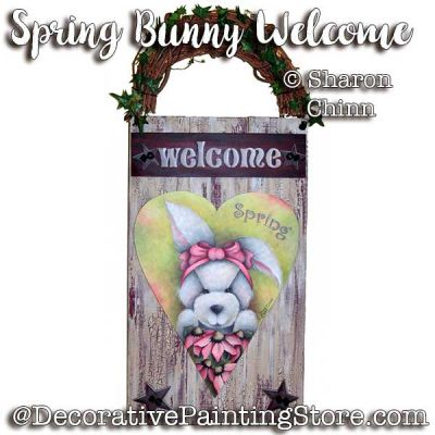 Spring Bunny Heart Welcome e-Pattern - Sharon Chinn